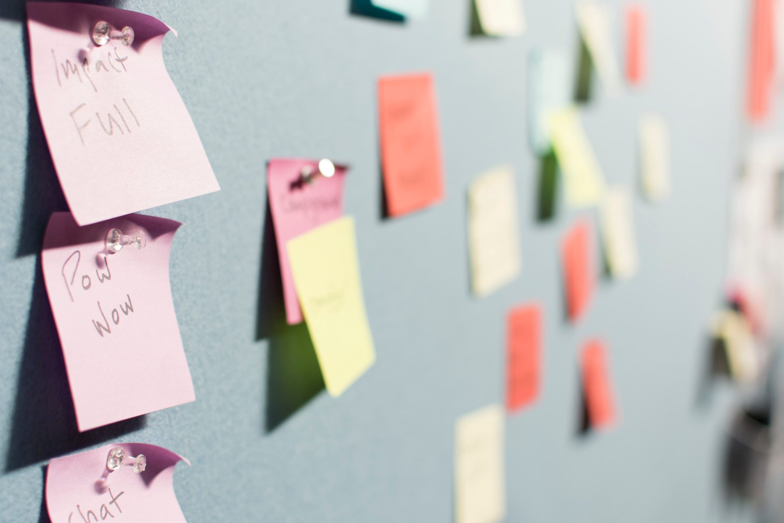 Board with Post-Its